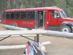 The shuttle bus that'll take us to Stehekin