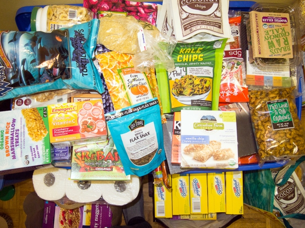 An up close look at some of our resupply food.
